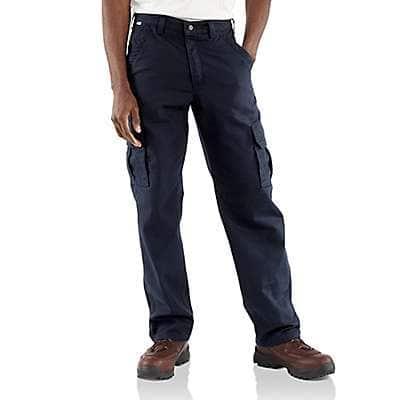 Carhartt Men's Dark Navy Flame-Resistant Canvas Cargo Pant