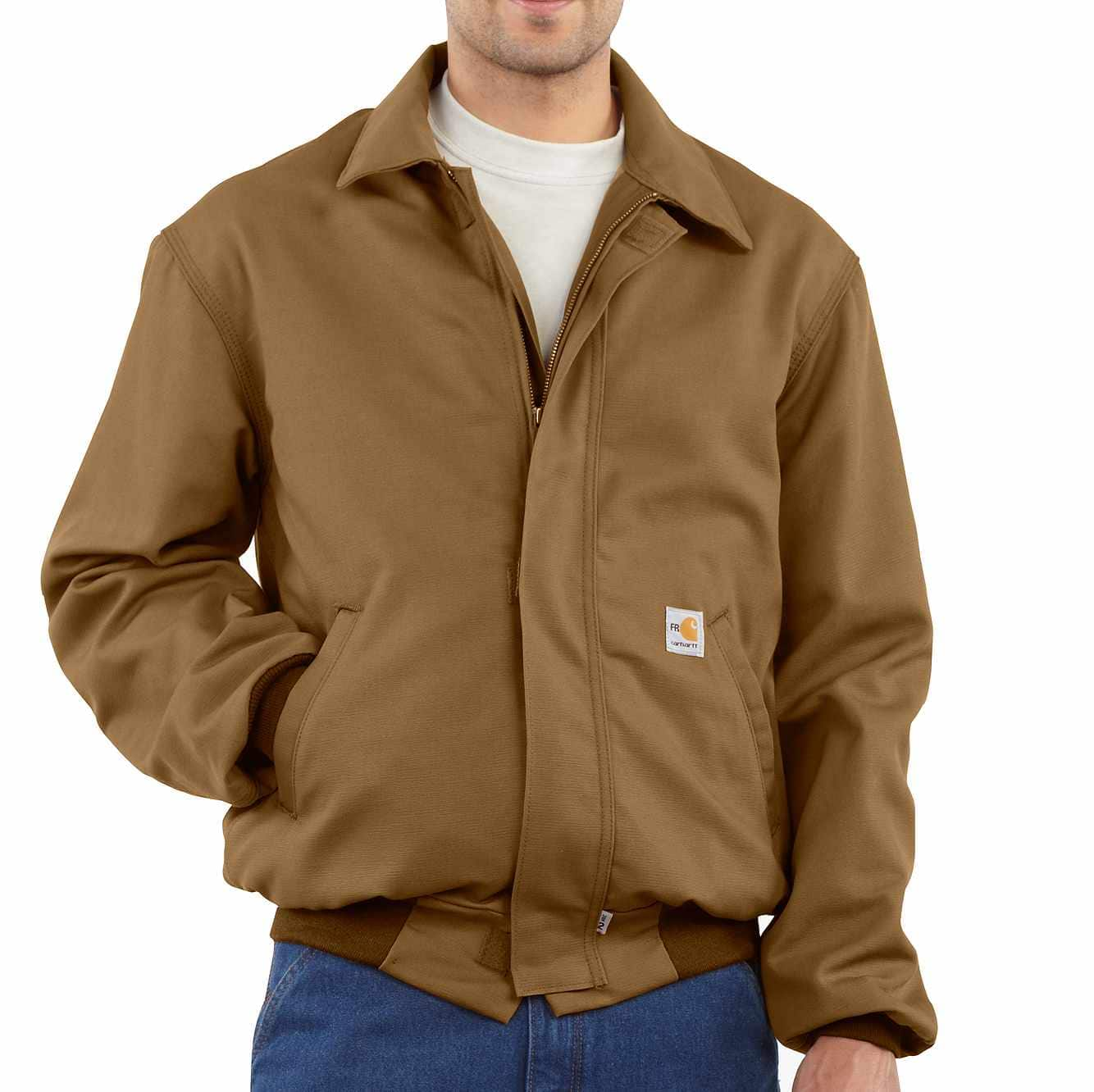 Picture of Flame-Resistant All-Season Bomber Jacket in Carhartt Brown