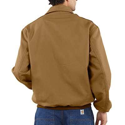 Carhartt Men's Carhartt Brown Flame-Resistant All-Season Bomber Jacket - back