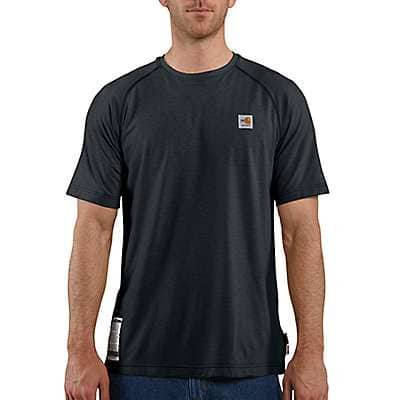 Carhartt Men's Dark Navy Flame-Resistant Carhartt Force® Short-Sleeve T-Shirt - front