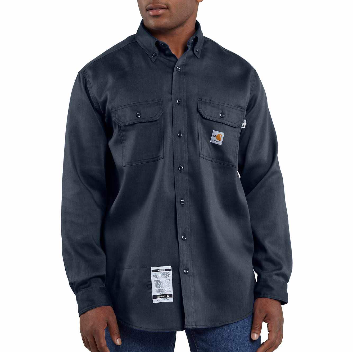 Picture of Flame-Resistant Lightweight Twill Shirt in Dark Navy