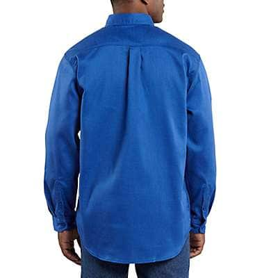 Carhartt Men's Dark Navy Flame-Resistant Lightweight Twill Shirt - back