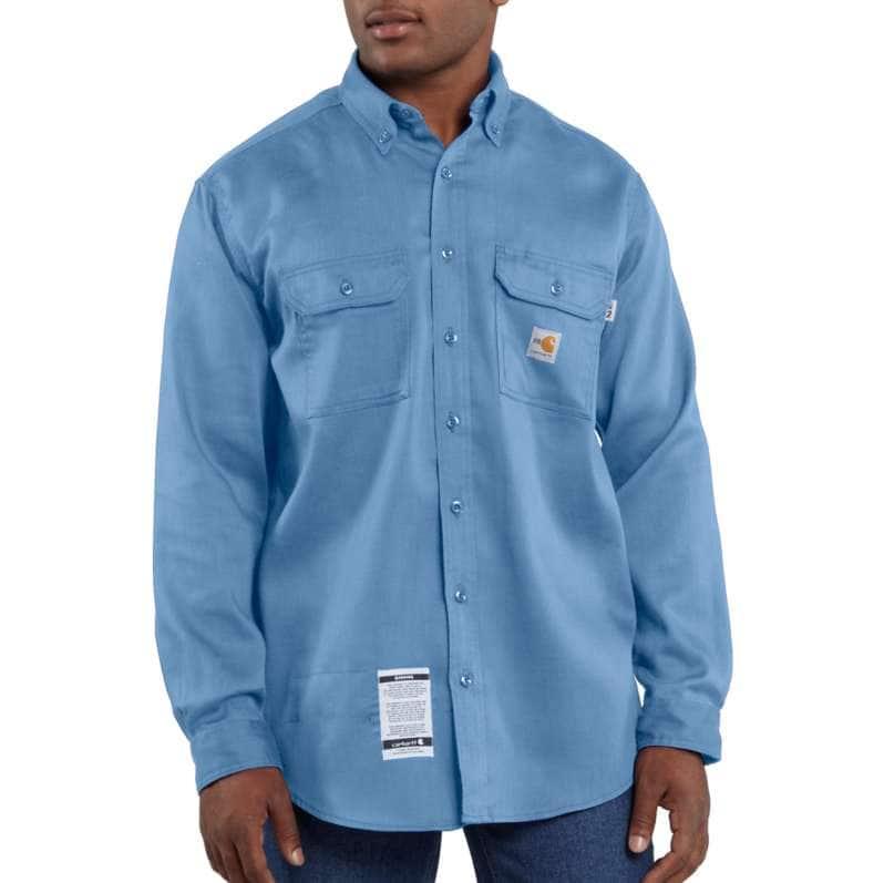 Carhartt  Medium Blue Flame-Resistant Lightweight Twill Shirt