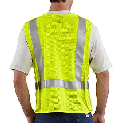 Carhartt Men's Brite Lime Flame-Resistant High-Visibility 5-Point Breakaway Vest - back