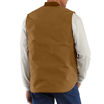 Carhartt Men's Carhartt Brown Flame-Resistant Duck Vest/Quilt Lined - back