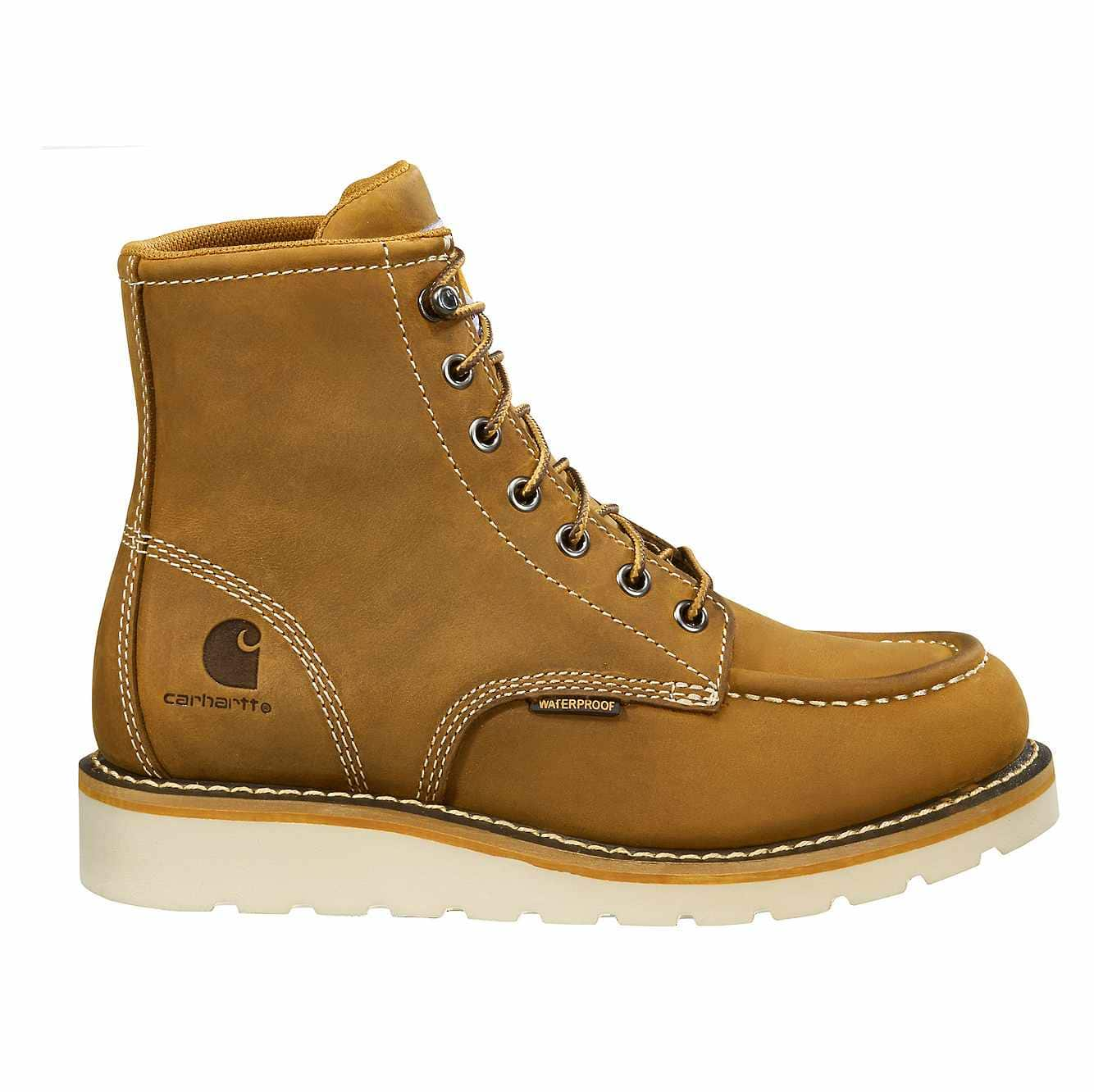 Picture of 6-Inch Non-Safety Toe Wedge Boot in Brown Oil Tanned