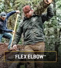 flex elbow. more room to move in the elbow