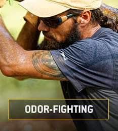 odor fighting. Fights odors by trapping them and releasing them in the wash
