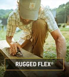 Rugged flex. Flexible, Stretch fabric everywhere you need it