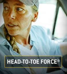 head to toe force. found in gear from hats to boots
