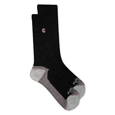 Carhartt Girls' White Girl's Force&Performance Crew Sock - front