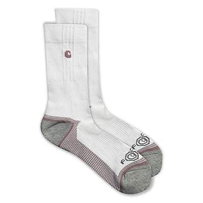 Carhartt  White Girl's Force&Performance Crew Sock - front