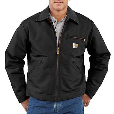 Carhartt Men's Black Duck Detroit Blanket-Lined Jacket - front