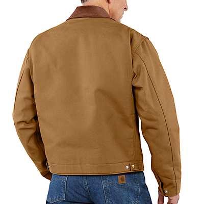 Carhartt  Black Duck Detroit Blanket-Lined Jacket - back