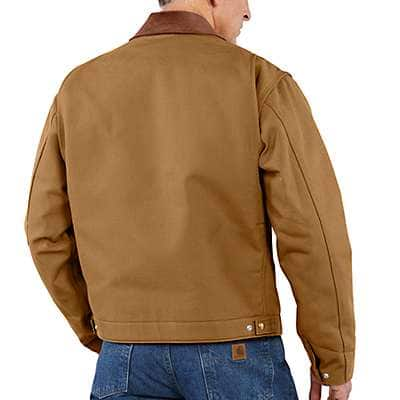 Carhartt Men's Carhartt Brown Duck Detroit Blanket-Lined Jacket - back