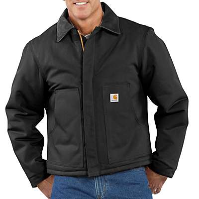 Carhartt Men's Black Duck Traditional Arctic Quilt-Lined Jacket - front