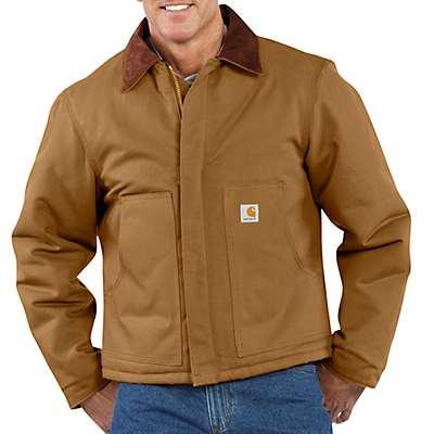 Carhartt Men's Carhartt Brown Duck Traditional Arctic Quilt-Lined Jacket - front