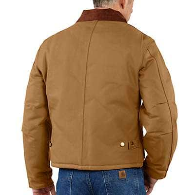 Carhartt Men's Black Duck Traditional Arctic Quilt-Lined Jacket - back
