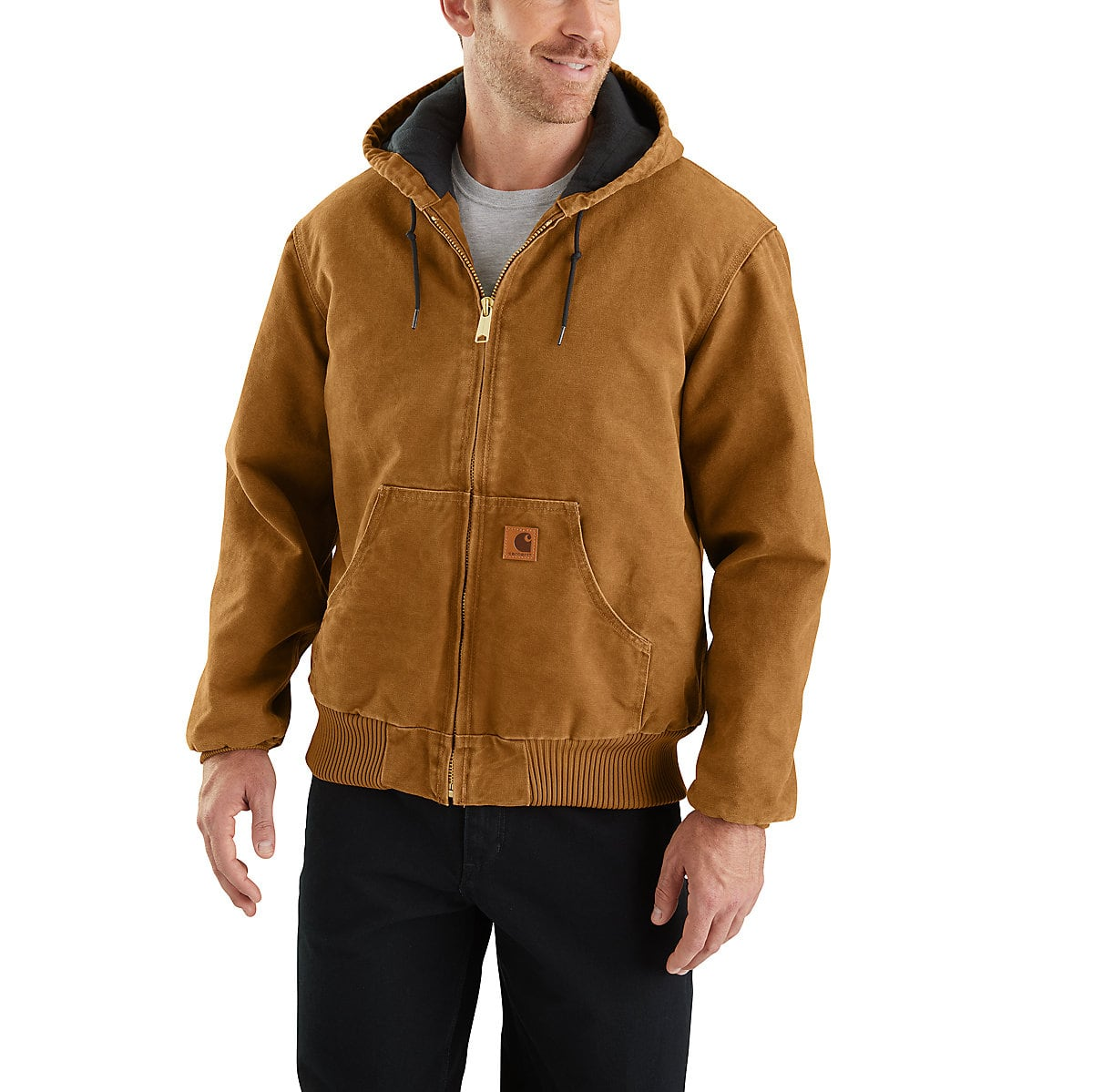 f3044bc154 Men's Sandstone Quilted Flannel-Lined Active Jac J130 | Carhartt