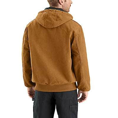 Carhartt Men's Carhartt Brown Sandstone Quilted Flannel-Lined Active Jac - back