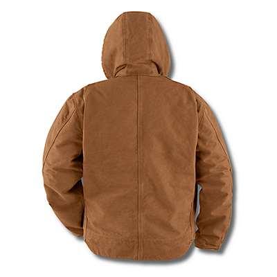 Carhartt Men's Dark Brown Sandstone Sherpa-Lined Sierra Jacket - back