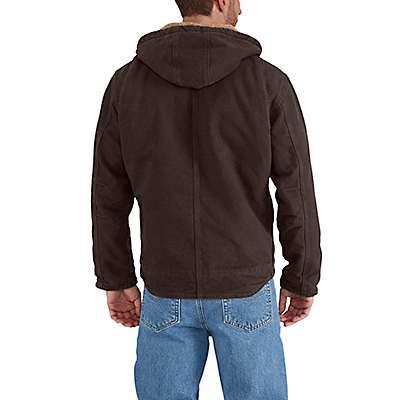 Carhartt  Dark Brown Sandstone Sherpa-Lined Sierra Jacket - back
