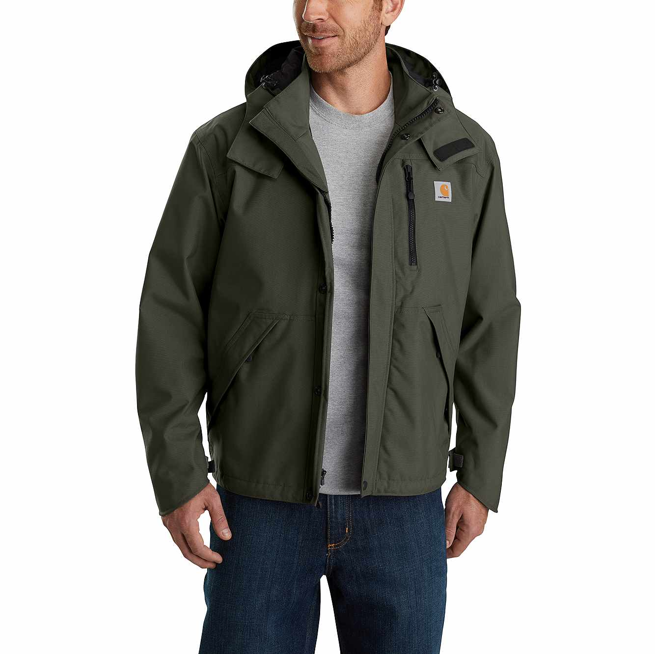 Picture of Shoreline Waterproof Breathable Jacket in Olive