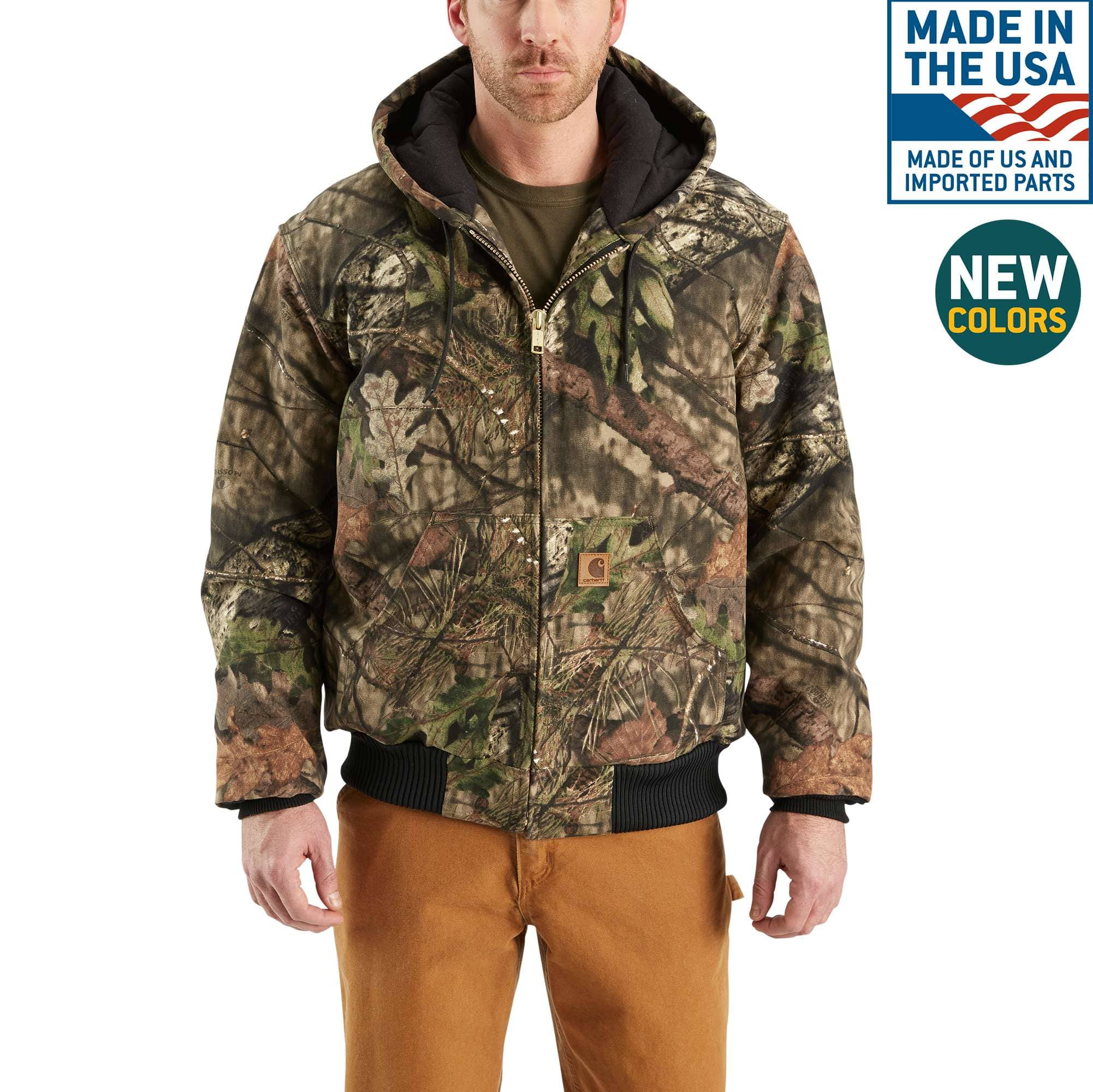 Men S Camo Quilted Flannel Lined Active Jac J221 Carhartt