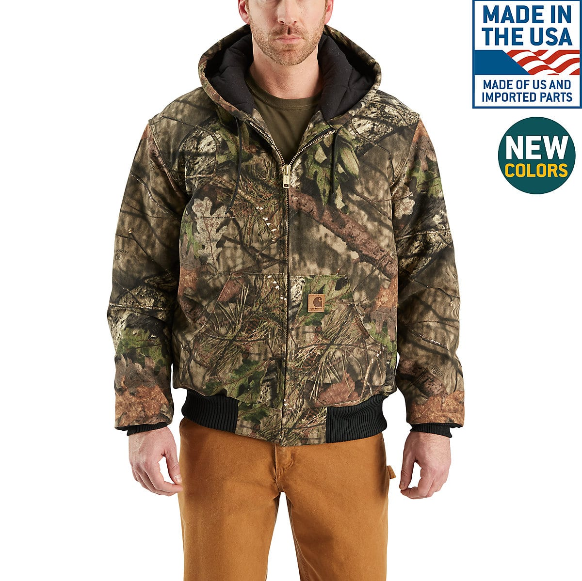 b89016fb0c98b Men's Camo Quilted Flannel-Lined Active Jac J221 | Carhartt