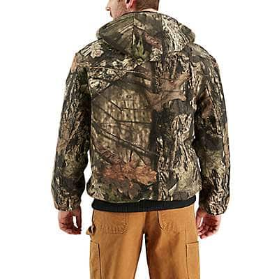 Carhartt Men's Mossy Oak Break-Up Country Camo Quilted Flannel-Lined Active Jac - back
