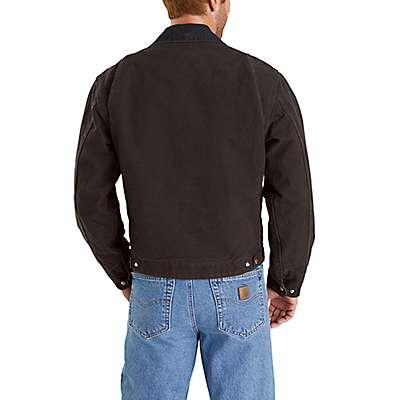 Carhartt Men's Dark Brown Sandstone Blanket-Lined Detroit Jacket - back