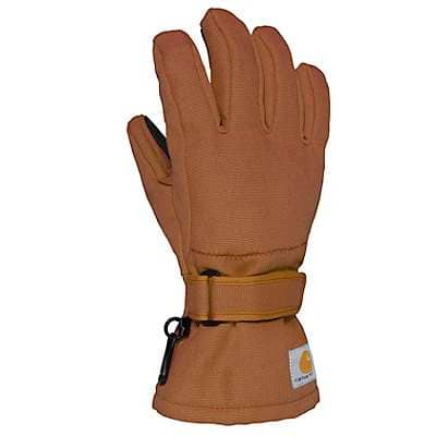 Carhartt Girls' Carhartt Brown Duck Insulated Glove - front