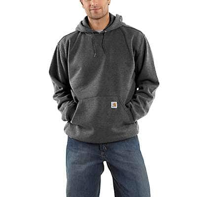 Carhartt Men's Black Hooded Pullover Midweight Sweatshirt - front