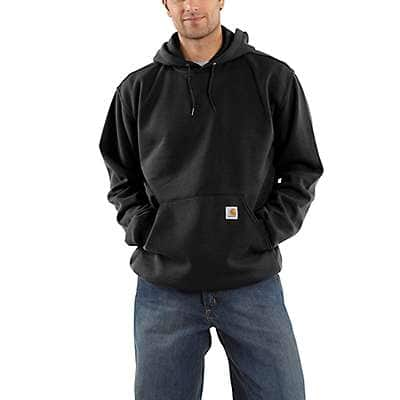 Carhartt Men's Heather Gray Hooded Pullover Midweight Sweatshirt - front