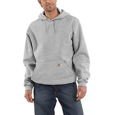 Carhartt Men's Heather Gray Hooded Pullover Midweight Sweatshirt - front