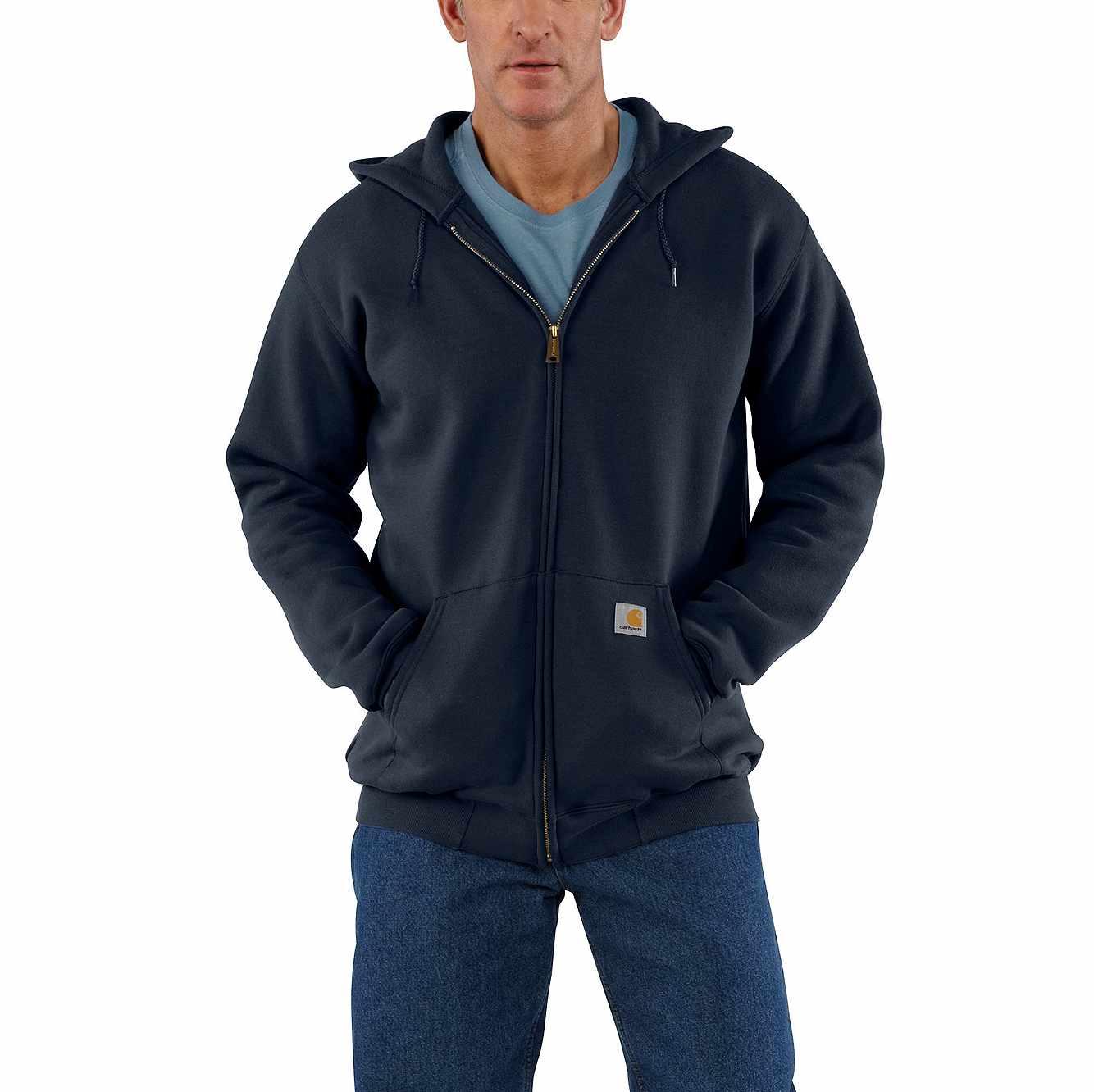 Picture of Midweight Hooded Zip-Front Sweatshirt in New Navy