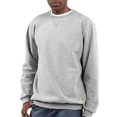Carhartt Men's Carbon Heather Midweight Crewneck Sweatshirt - front