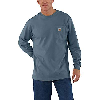 Carhartt Men's Black Workwear Long-Sleeve Pocket T-Shirt - front