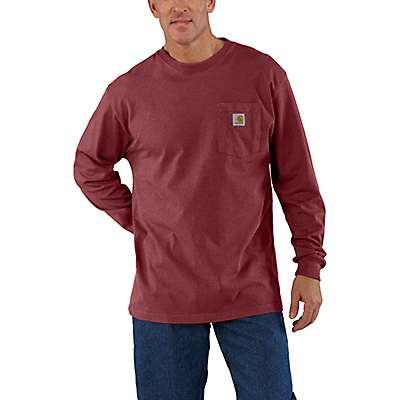 Carhartt  Sun-Dried Tomato Heather Workwear Long-Sleeve Pocket T-Shirt - front
