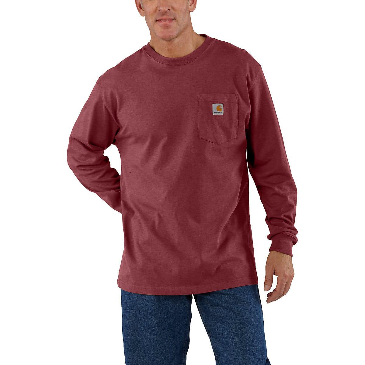 Mens Workwear Long Sleeve Pocket T Shirt K126 Carhartt