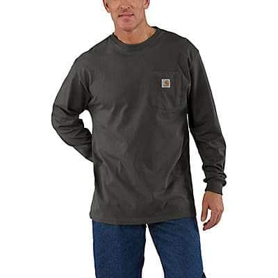 Carhartt Men's Peat Loose Fit Heavyweight Long-Sleeve Pocket T-Shirt