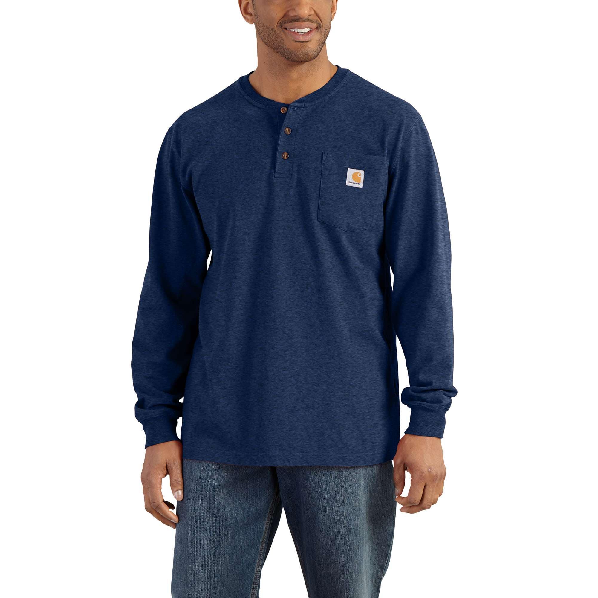 6eaca395405 Men s Workwear Long-Sleeve Henley T-Shirt K128