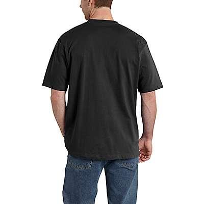 Carhartt Men's Oil Green Heather Short-Sleeve Logo T-Shirt - back