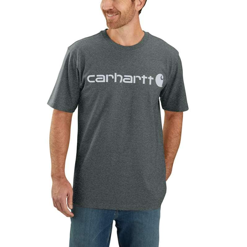 Carhartt  Elm Heather Loose Fit Heavyweight Short-Sleeve Logo Graphic T-Shirt