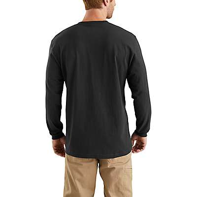 Carhartt Men's Black Workwear Long-Sleeve Graphic Logo T-Shirt - back