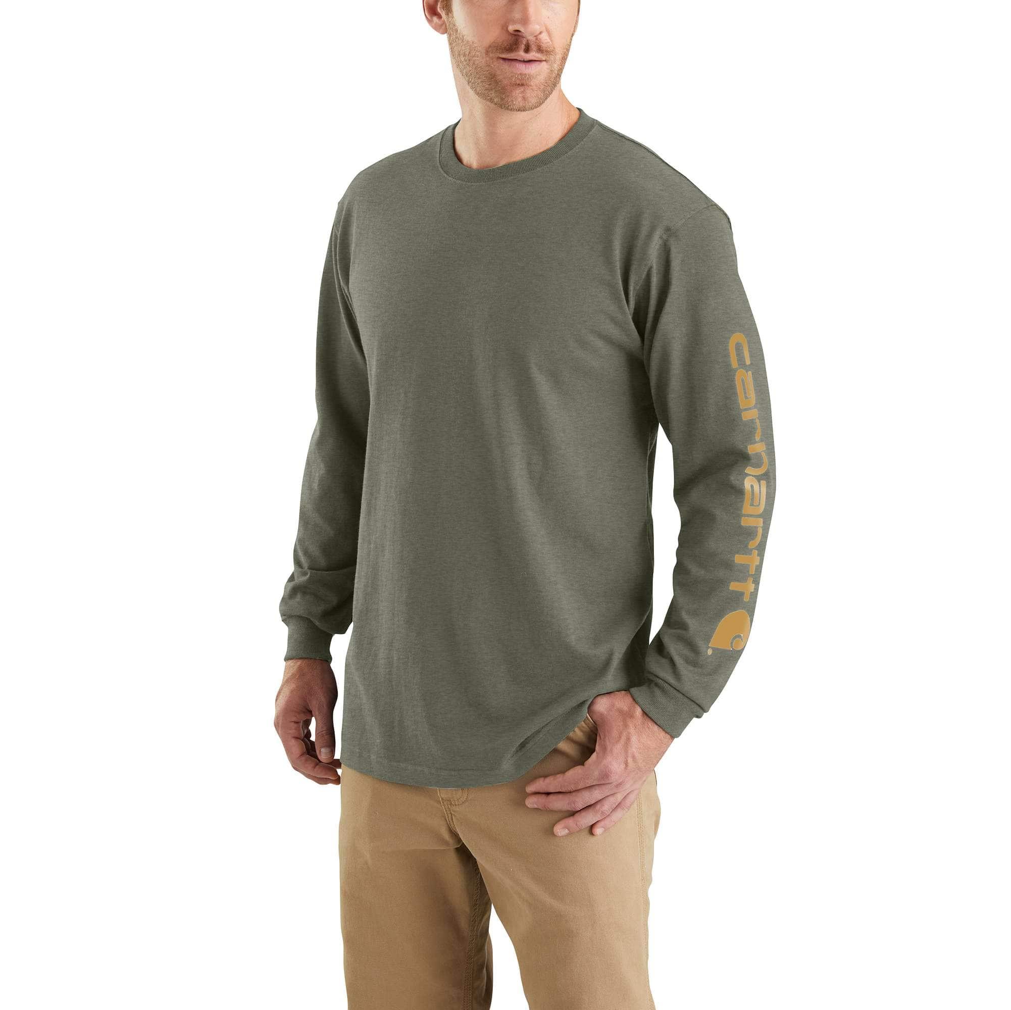 Carhartt Mens Signature Logo Short-Sleeve Midweight Jersey T-Shirt Work Utility T-Shirt