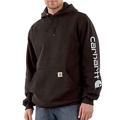 Carhartt  Dark Brown Midweight Hooded Logo Sweatshirt - front