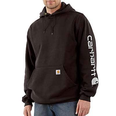Carhartt  Dark Brown Midweight Hooded Logo Sweatshirt - front