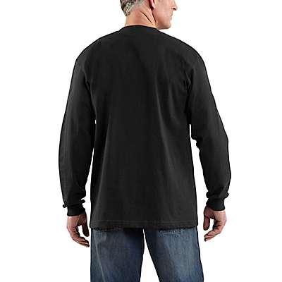 Carhartt Men's Granite Heather Long-Sleeve Logo T-Shirt - back