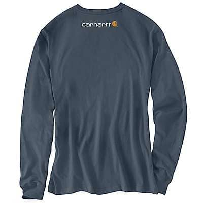 Carhartt Men's Bluestone Long-Sleeve Logo T-Shirt - back